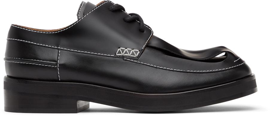 JW Anderson 黑色 Loop 德比鞋