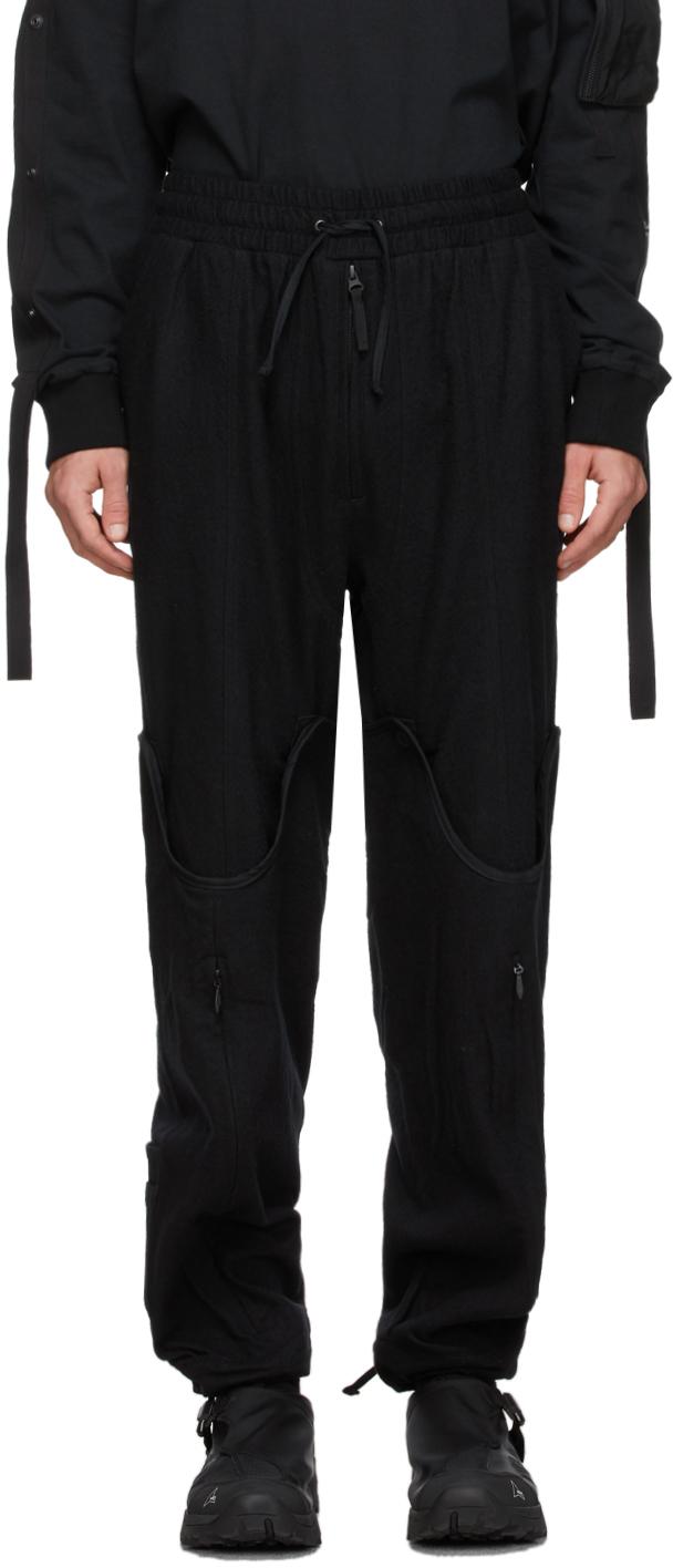Blackmerle 黑色可变换式长裤