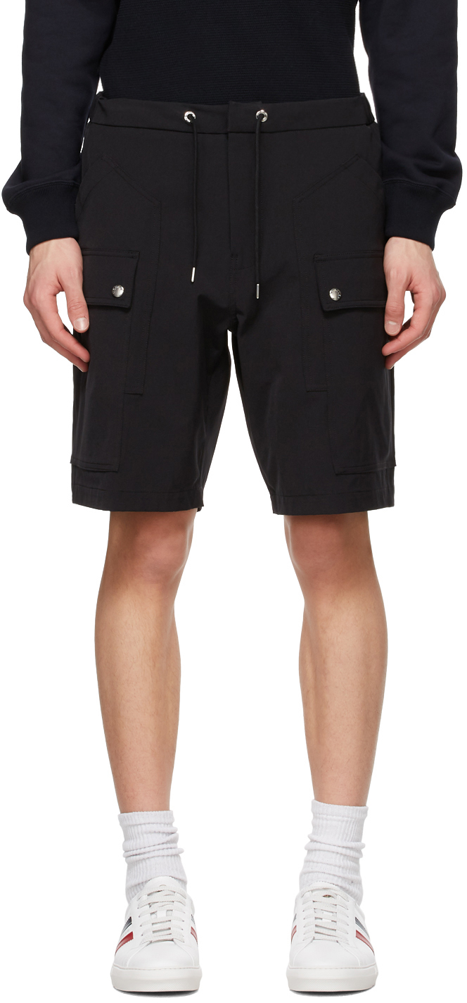 Moncler 黑色百慕大短裤