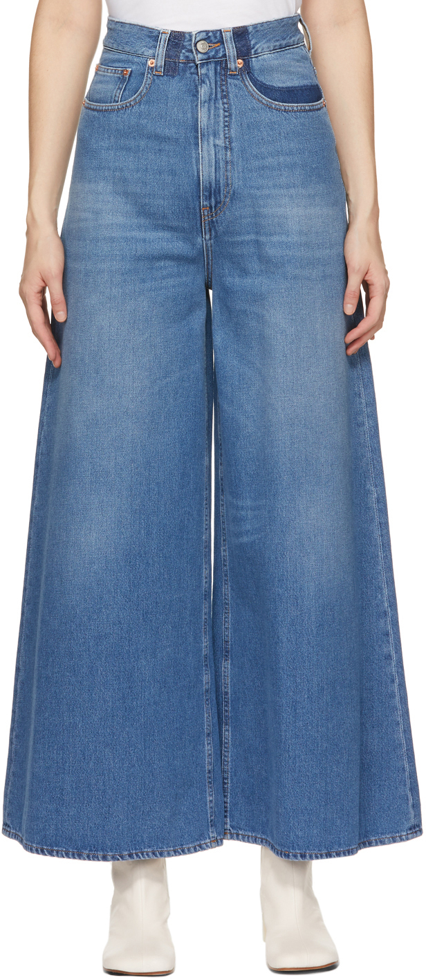 MM6 Maison Margiela 蓝色 Shadow 喇叭牛仔裤