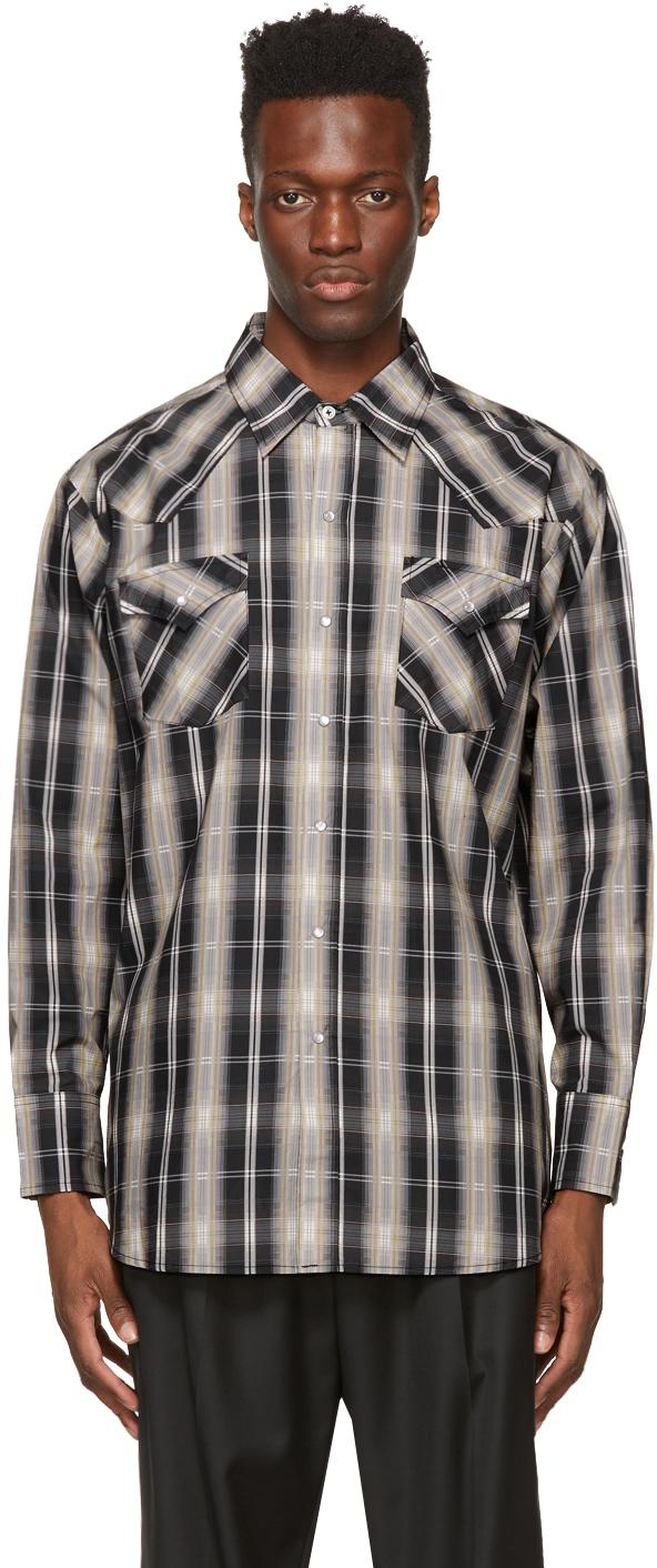Winnie New York 灰色 & 黑色 Western 格纹衬衫