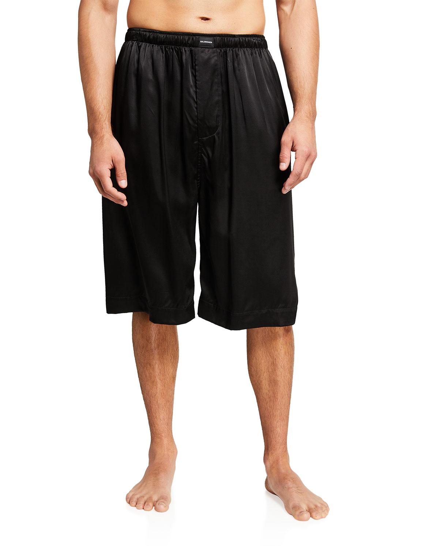 Men's Fluid Satin Pajama Shorts
