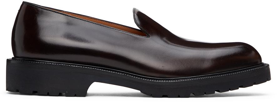 Dries Van Noten 棕色漆皮乐福鞋