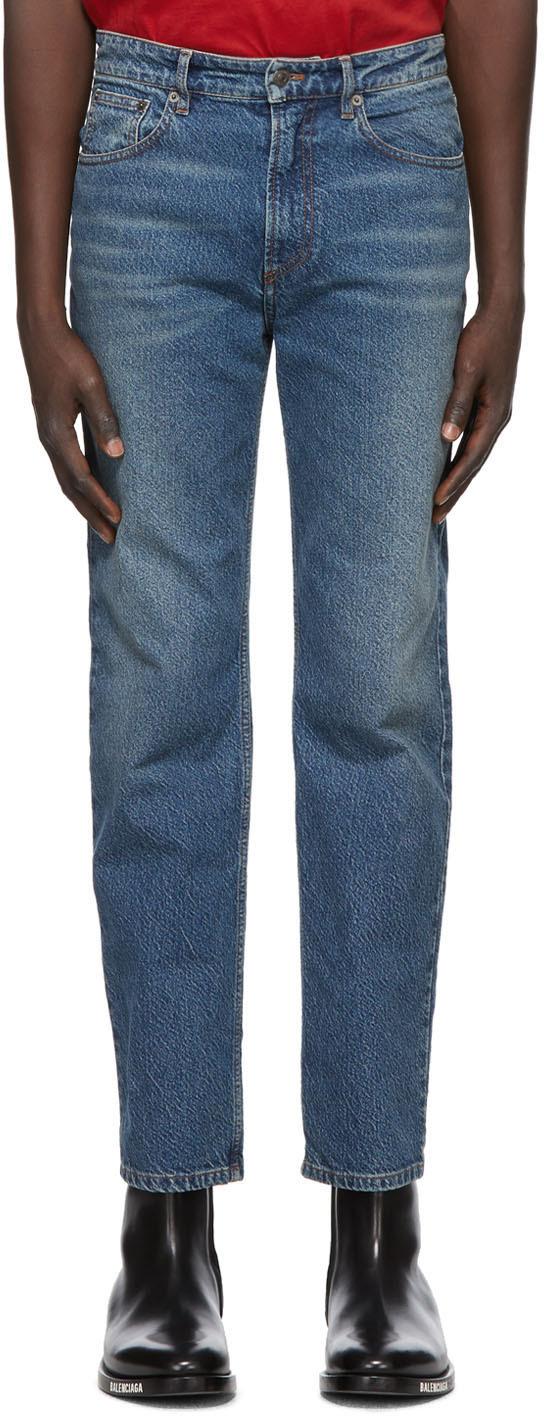 Balenciaga 蓝色 High Twisted 牛仔裤