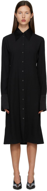 Acne Studios 黑色绉纱连衣裙