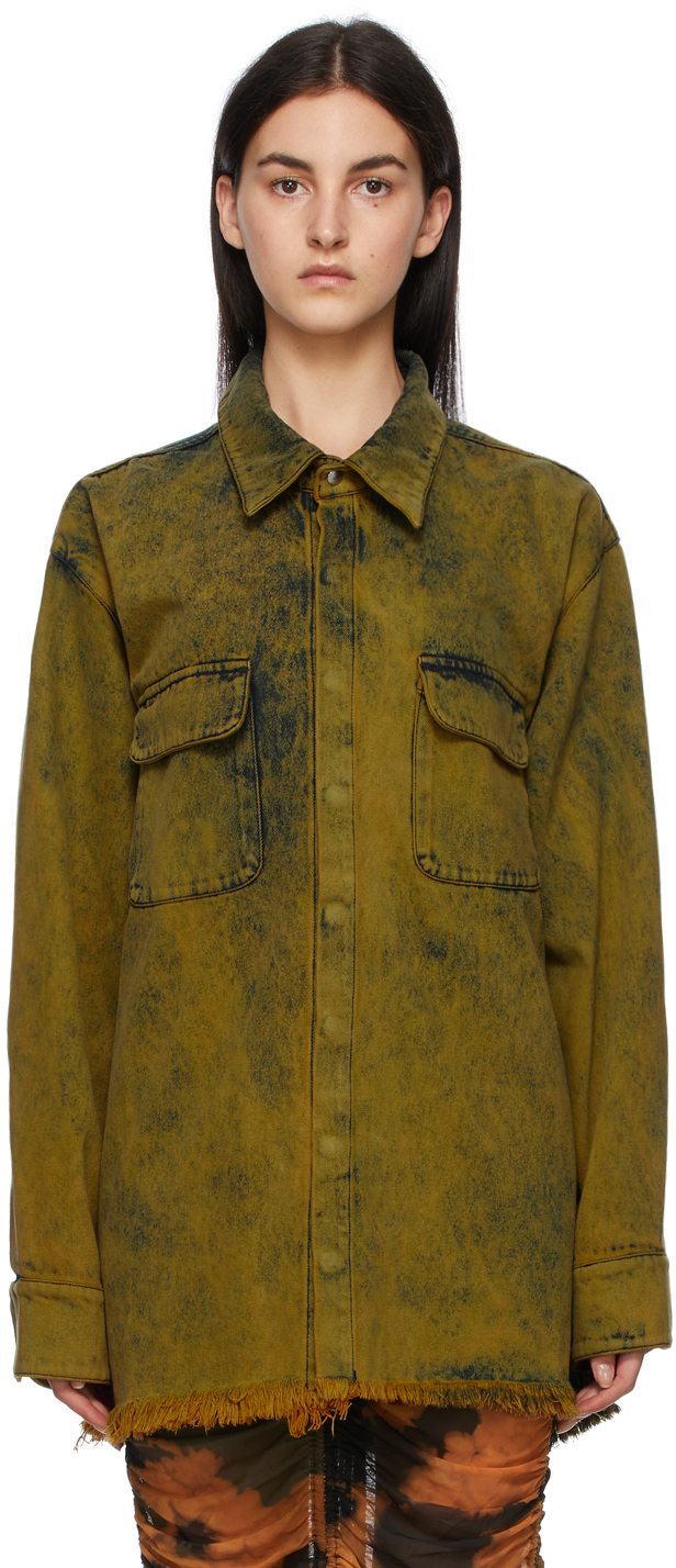 Marques Almeida SSENSE 独家发售黄色丹宁夹克衬衫