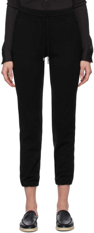 Loro Piana 黑色小山羊绒运动裤