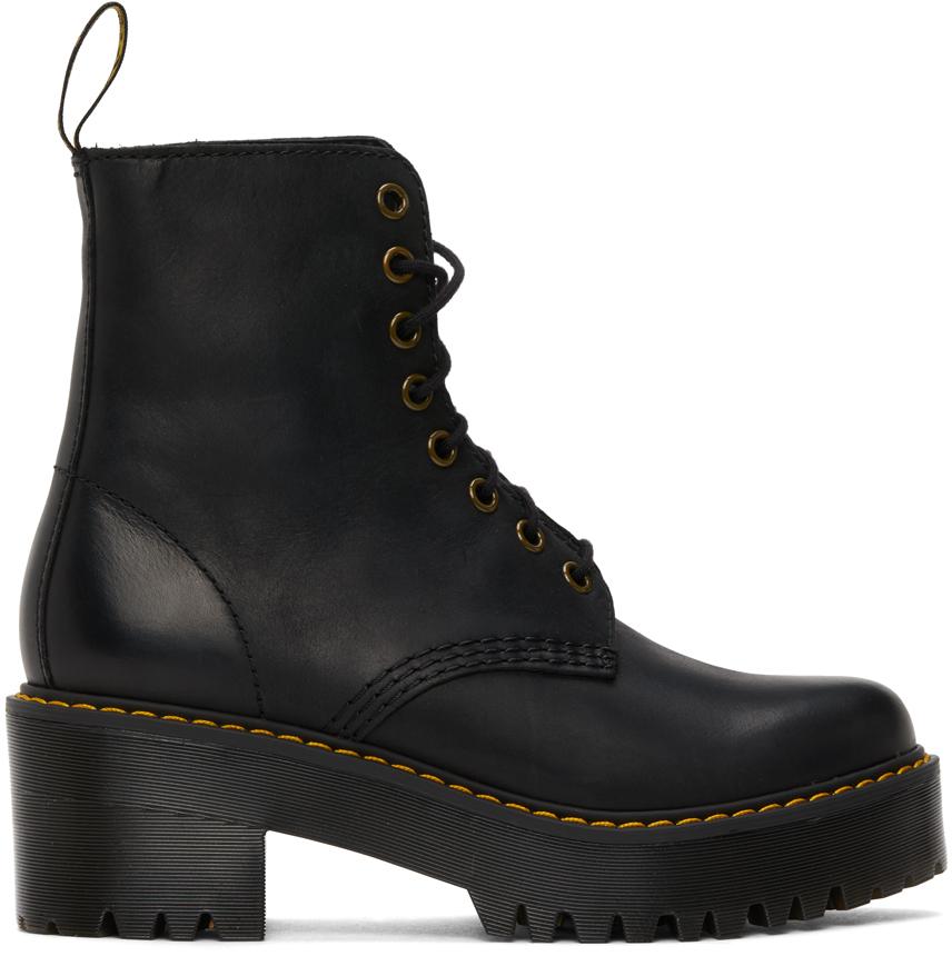 Dr. Martens 黑色 Shriver Hi 踝靴
