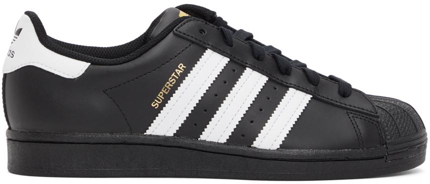 adidas Originals 黑色 Superstar 运动鞋