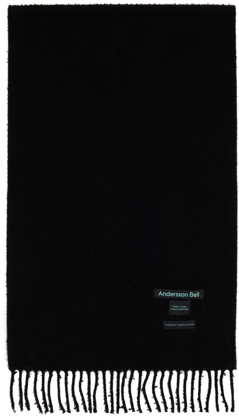 Andersson Bell SSENSE 独家发售黑色 Biella 羊毛围巾