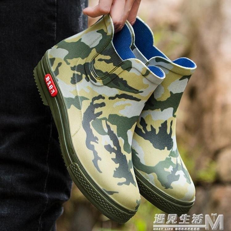 時尚短筒雨鞋男士防滑雨靴中筒低筒防水膠鞋四季男女外穿工作鞋潮