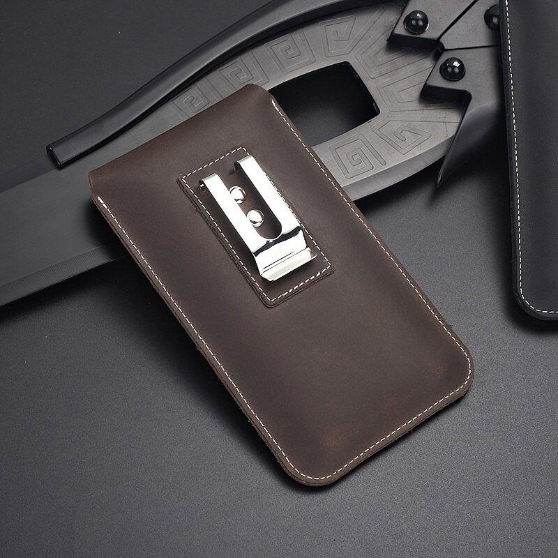 腰掛手機包 適用于華為mate30 pro商務皮質穿皮帶男豎款手機套腰掛包P40工地【MJ11097】