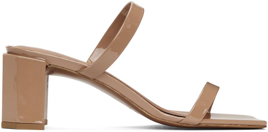 BY FAR 黄褐色 Tanya 漆皮凉鞋