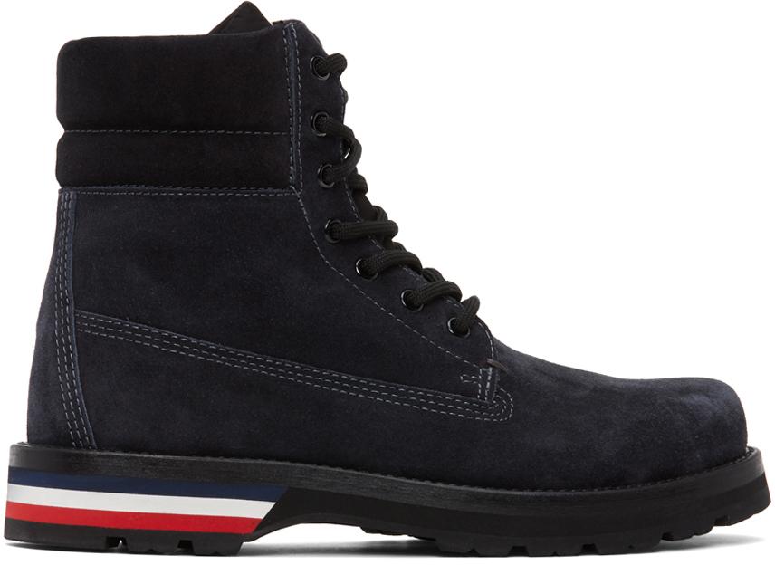 Moncler 黑色 Vancouver 绒面革踝靴