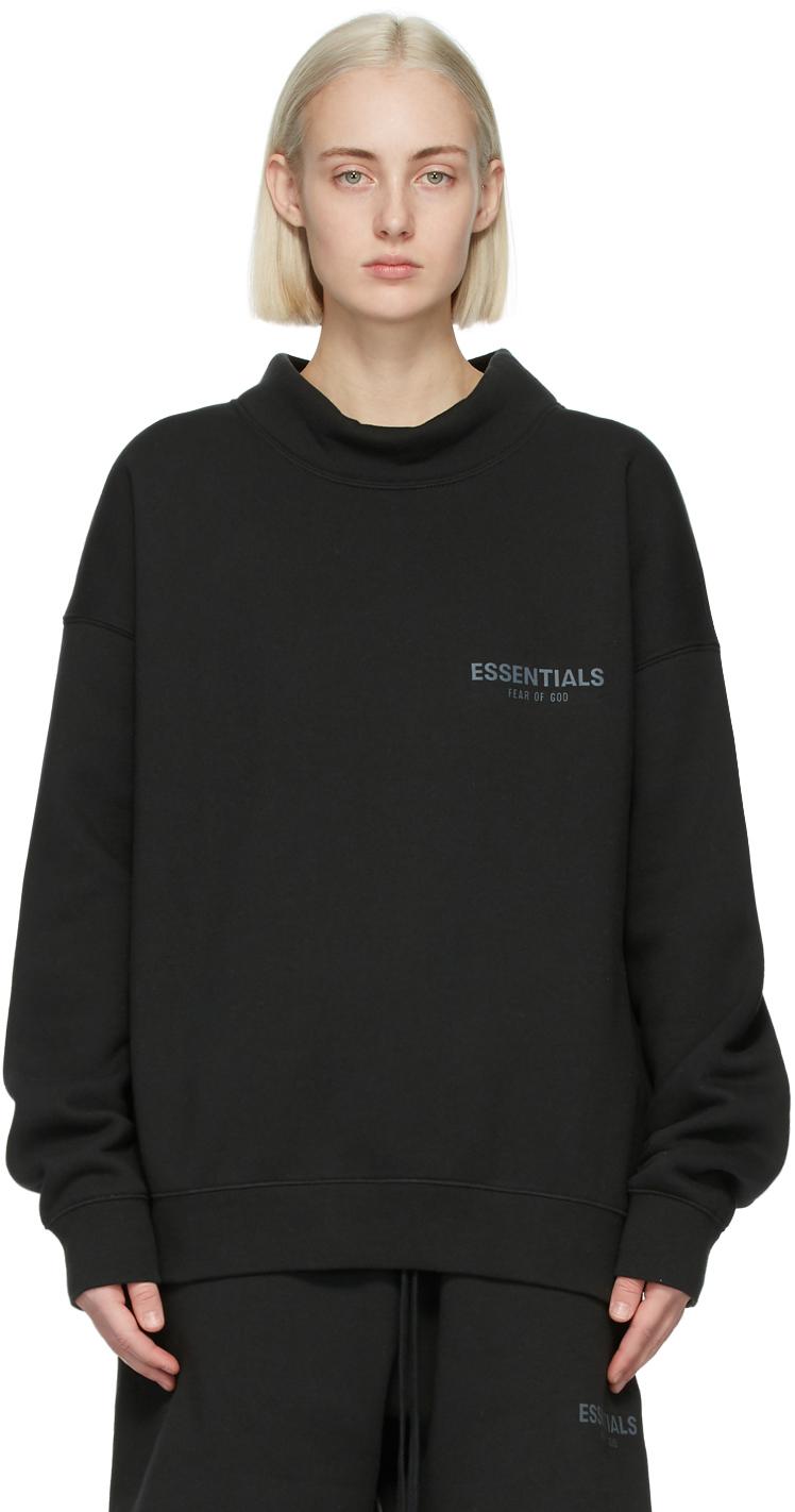 Essentials 黑色小高领套头衫