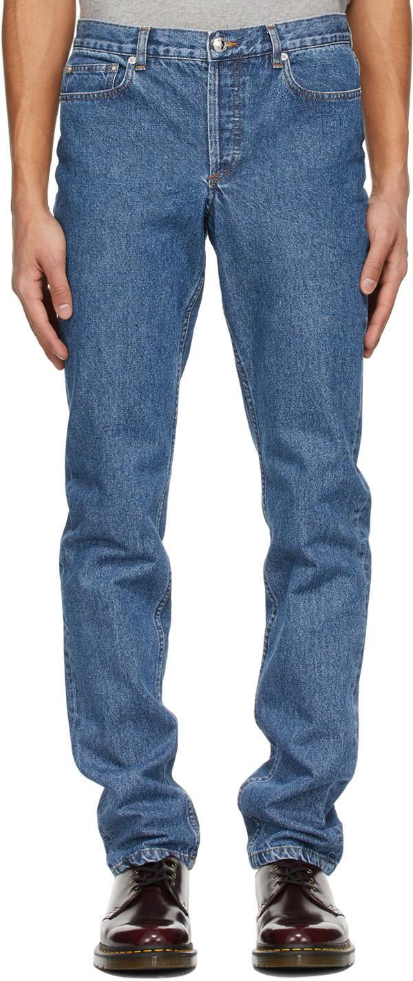 A.P.C. 蓝色 Cure 牛仔裤
