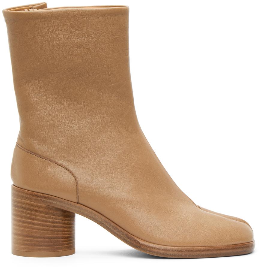 Maison Margiela 黄褐色 Tabi Vintage 踝靴