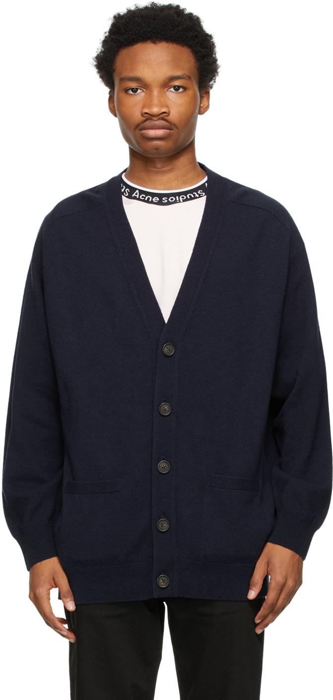 Acne Studios 海军蓝羊毛开衫
