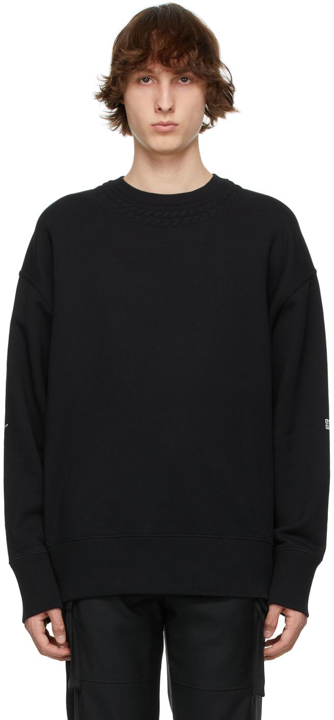 Givenchy 黑色 Chain 大廓形套头衫