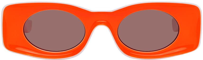 Loewe 白色 & 橙色 Paula's Ibiza 系列太阳镜