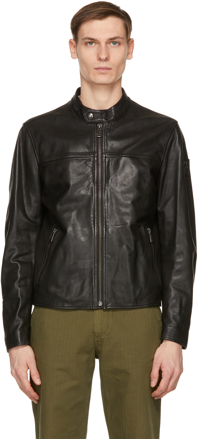 Belstaff 黑色 Pelham 皮革夹克