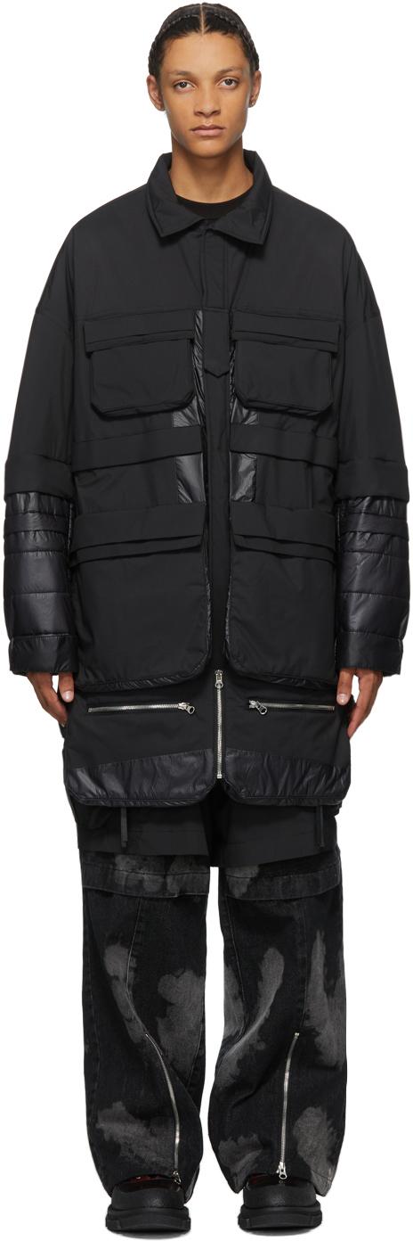 JERIH 黑色 Pocket 机能大衣