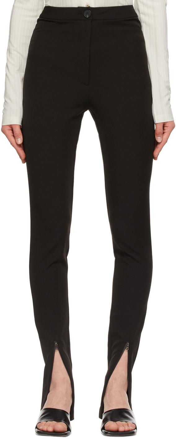 LOW CLASSIC 黑色拉链长裤