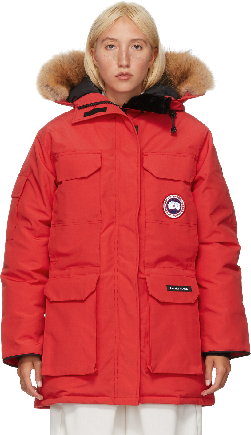 Canada Goose 红色 Expedition 羽绒派克大衣