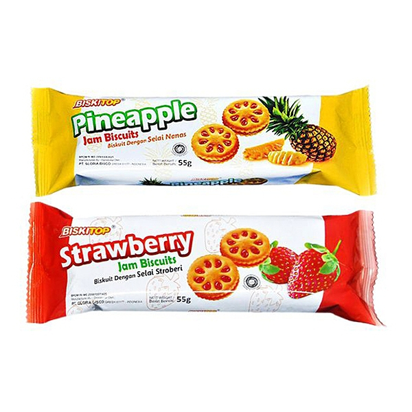 BISKITOP 多果醬鳳梨/草莓夾心餅(55g) 款式可選【小三美日】