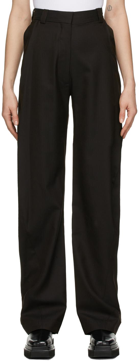 Eftychia 棕色 Grampa 羊毛长裤