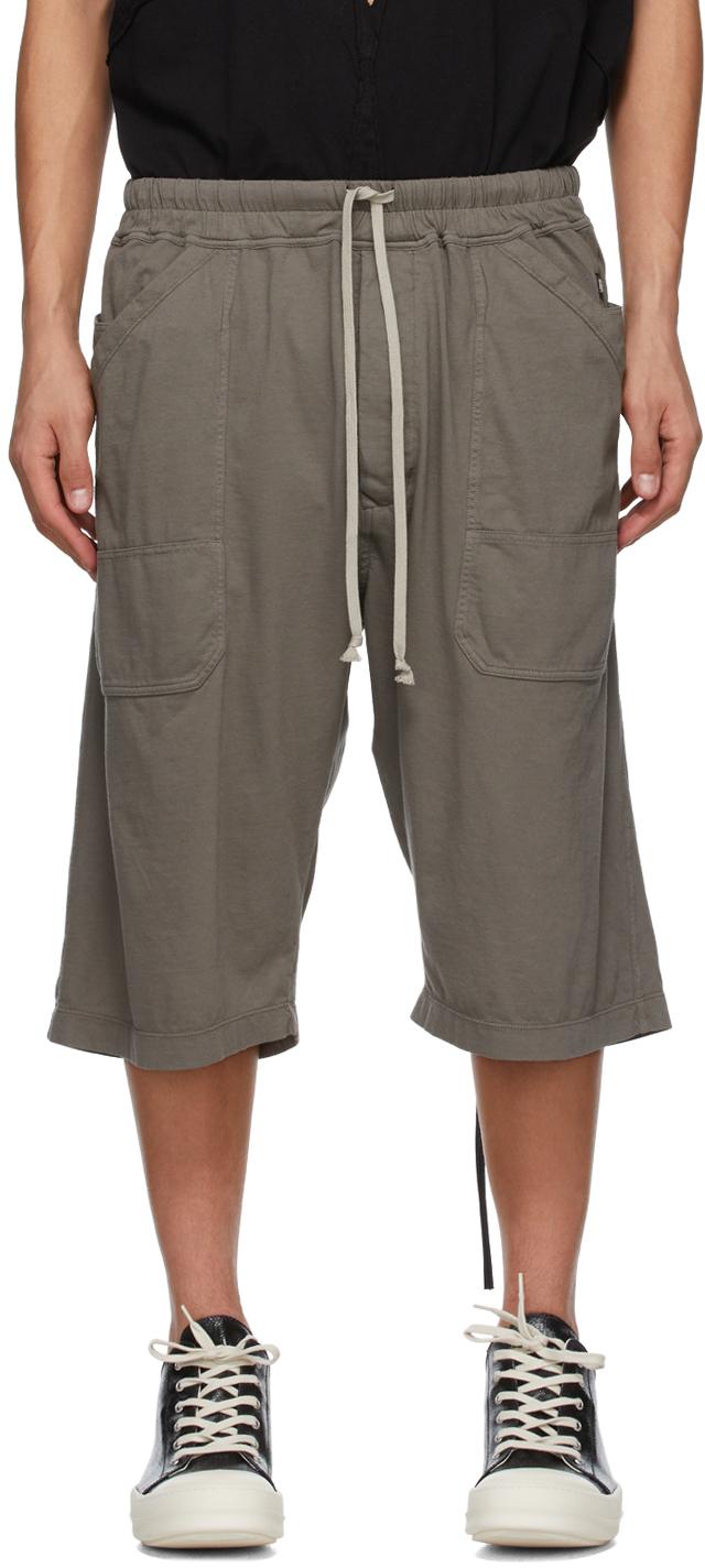 Rick Owens Drkshdw SSENSE 独家发售灰色 MT 短裤