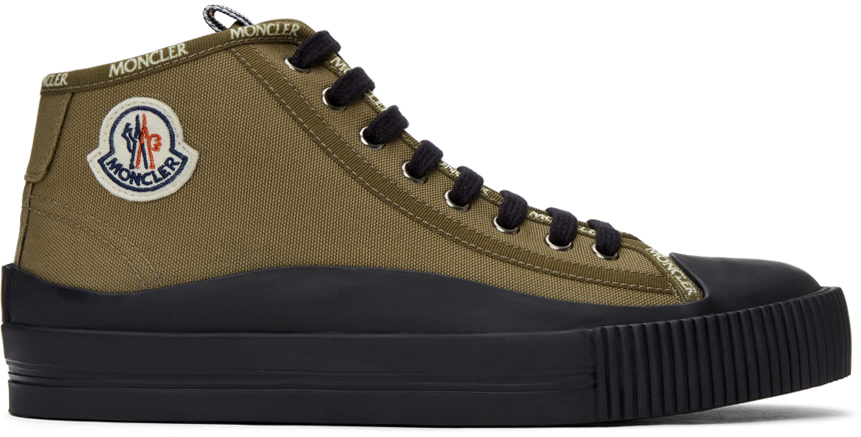 Moncler 军绿色 Lissex 高帮运动鞋