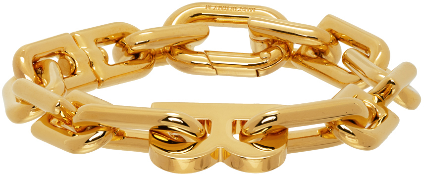 Balenciaga 金色 Thin B Chain 手链