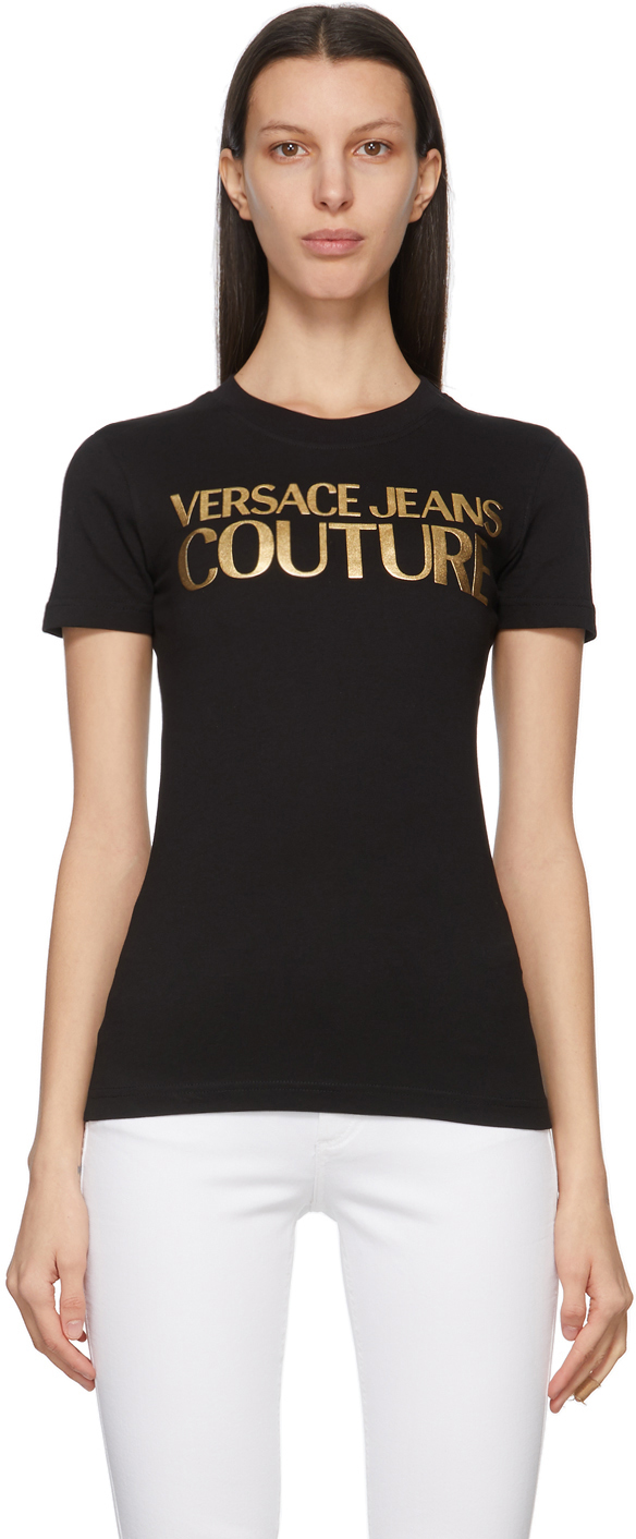Versace Jeans Couture 黑色 Institutional Logo T 恤