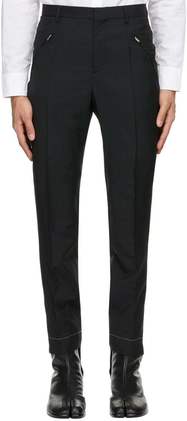 Maison Margiela 黑色华达呢长裤