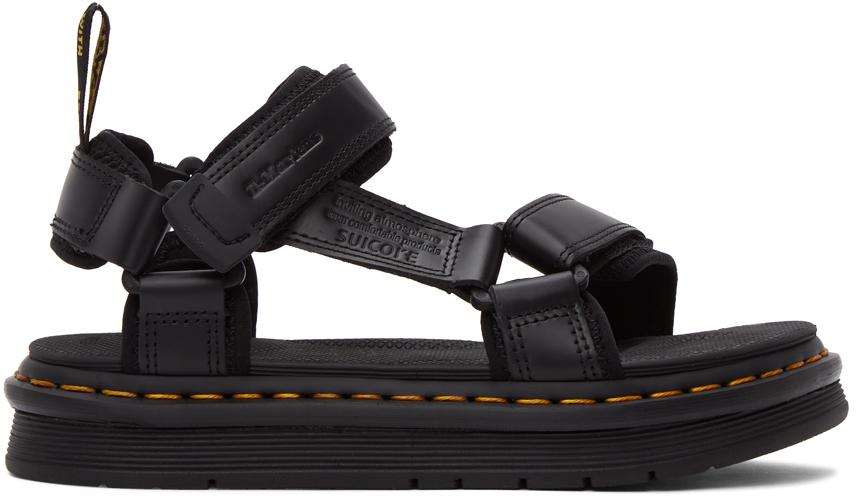 Dr. Martens 黑色 Suicoke 联名 DEPA 凉鞋