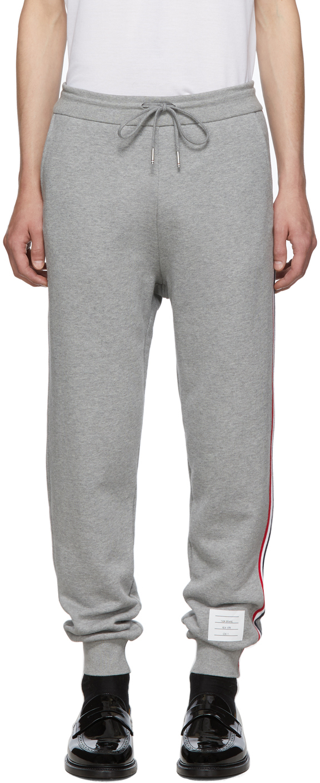 Thom Browne 灰色毛圈布经典款运动裤