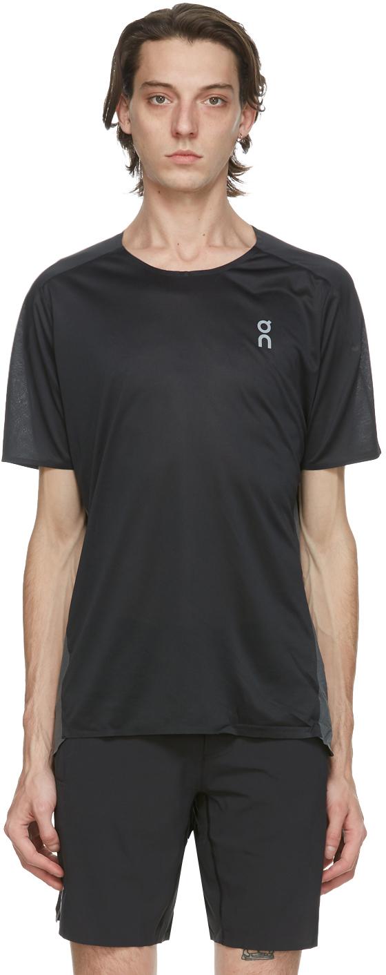 On 黑色 Performance 机能 T 恤