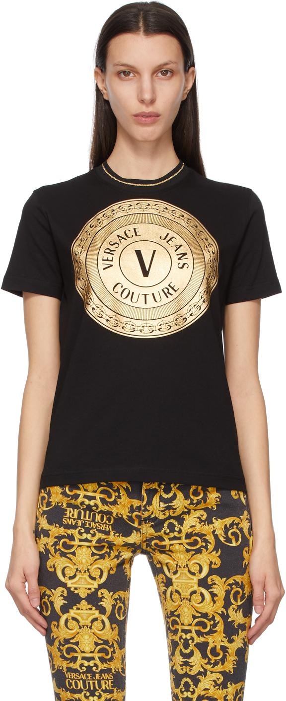 Versace Jeans Couture 黑色 V-Emblem T 恤