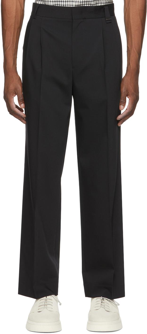 Solid Homme 黑色阔腿长裤