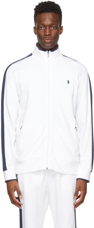 Polo Ralph Lauren 白色 Interlock 运动夹克