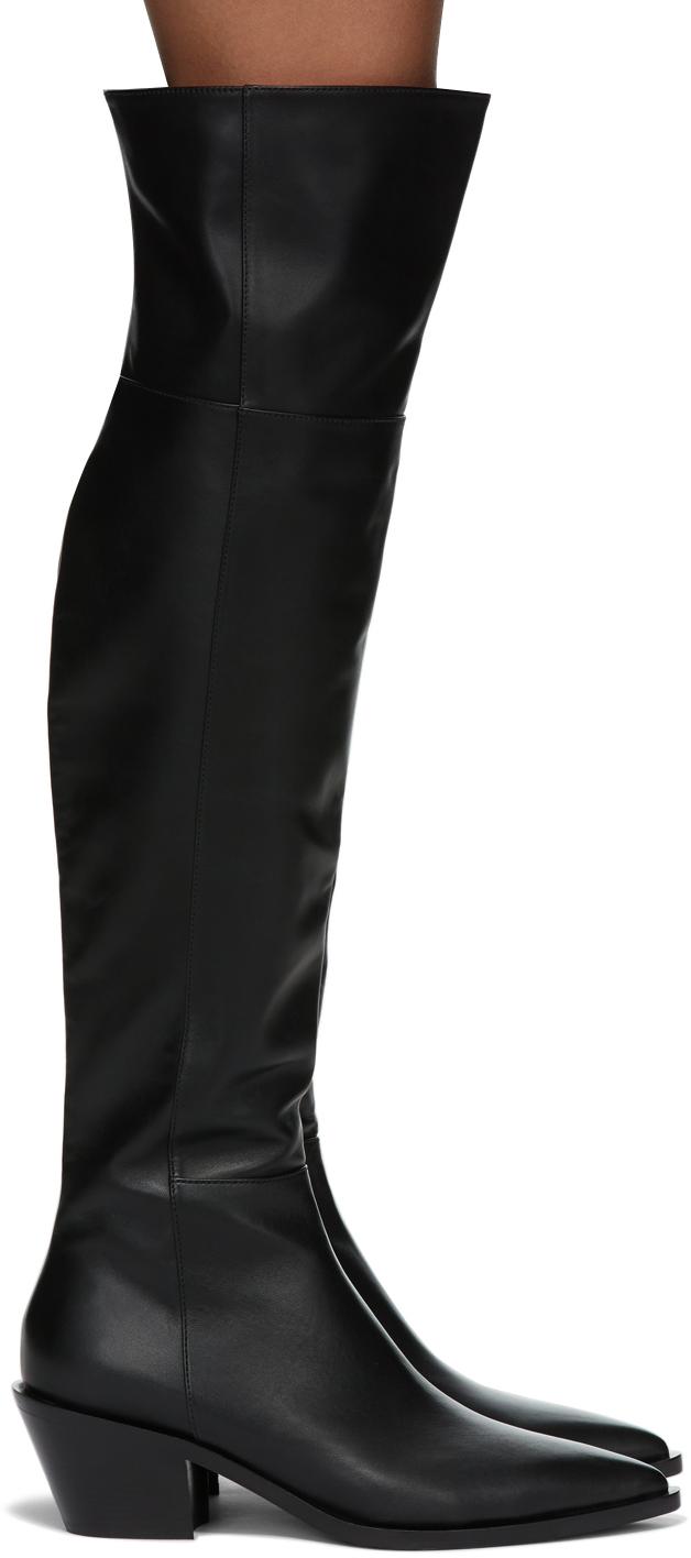 Gianvito Rossi 黑色 Over-The-Knee 高筒靴