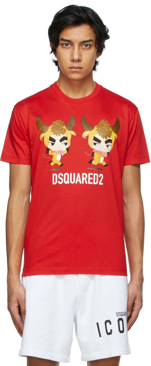 """Dsquared2 红色""""Year Of The Ox"""" T 恤"""
