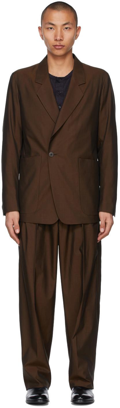 Ermenegildo Zegna Couture 棕色斜纹西服套装