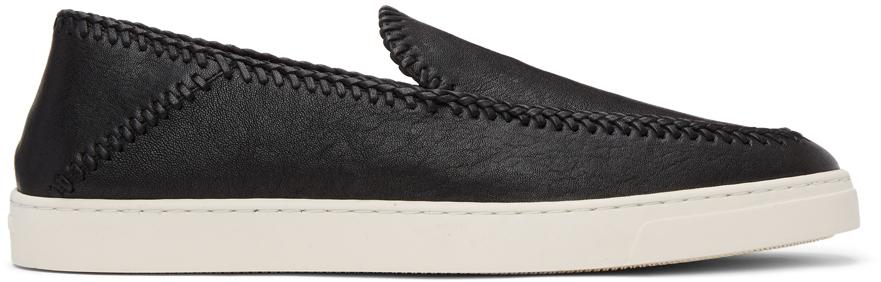 Giorgio Armani 黑色 Washed 无带运动鞋