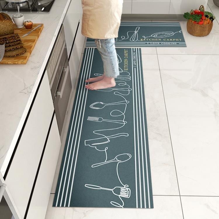 廚房地墊 防水可擦防滑墊家用防油免洗pvc地墊進門地毯耐髒腳墊子