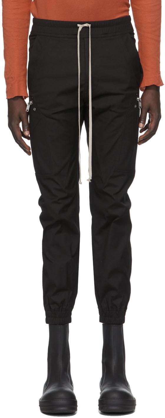 Rick Owens 黑色 Cargo 运动裤