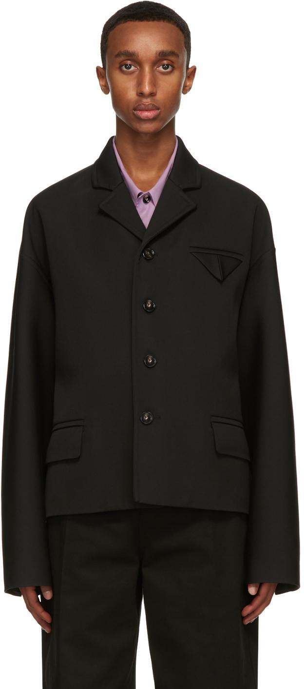 Bottega Veneta 黑色羊毛西装外套