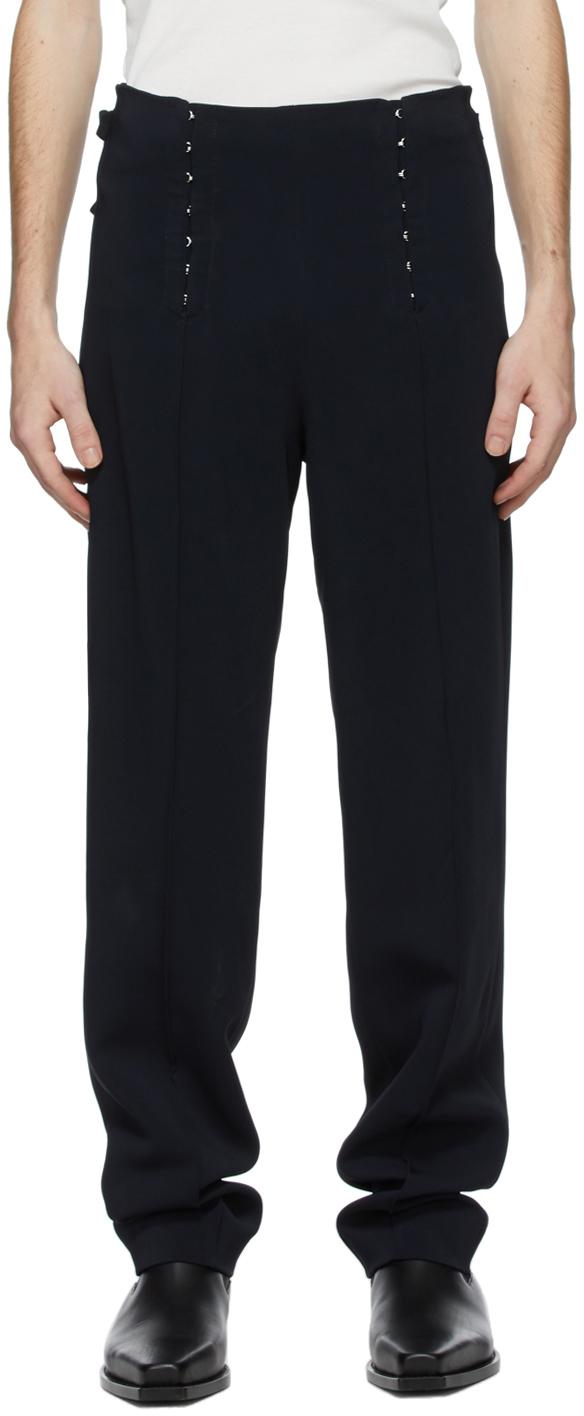 Dion Lee 海军蓝 Corset 长裤