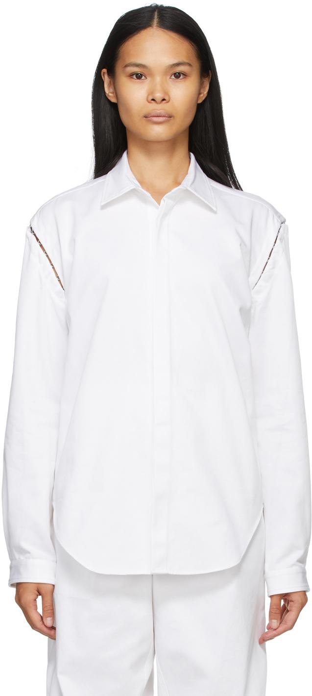 Dion Lee 白色 Detach Hook 衬衫